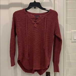 American Eagle tie sweater